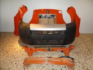 Fiat fiorino 2008-2016 μετώπη-μούρη εμπρός κομπλέ πορτοκαλί