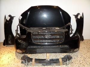 Hyundai santa fe 2006-2010 μετώπη-μούρη εμπρός κομπλέ μαύρο