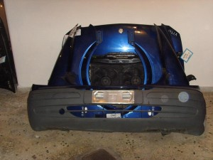 Mercedes vito 639 2004-2010 μετώπη-μούρη εμπρός κομπλέ μπλέ