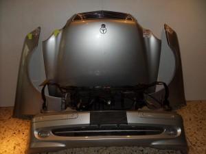 Mercedes c class w203 2000-2003 μετώπη-μούρη εμπρός κομπλέ ασημί