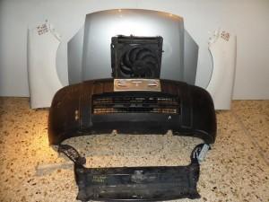 Peugeot partner 04-08 μετώπη εμπρός κομπλέ ασημί