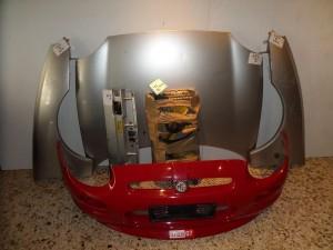 Rover MG 1995-2001 μετώπη-μούρη εμπρός κομπλέ ασημί