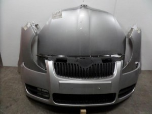 Skoda Fabia 2007-2010 Roomster 2006-2010 μετώπη εμπρός κομπλέ ασημί