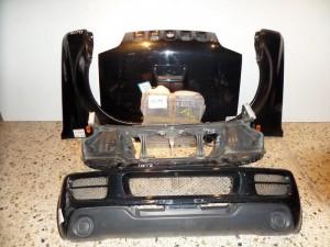 Suzuki jimny 04-08 μετώπη εμπρός κομπλέ μαύρο