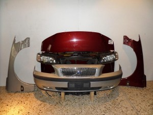 Volvo S60 01-04 μετώπη εμπρός κομπλέ ασημί & μπορντό
