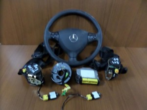 Mercedes cl class w203 coupe 2001-2004 set airbag μαύρο
