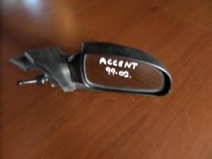 Hyundai accent 99-02 μηχανικός καθρέπτης δεξιός άβαφος