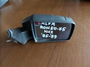 Alfa romeo 75 1985-1989 μηχανικός καθρέπτης δεξιός άβαφος