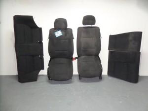 BMW E46 99-03 coupe σέτ καθίσματα εμπρός-πίσω μαύρα (2 ταπετσαρίες πίσω)