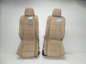 BMW E60 03-10 κάθισμα εμπρός με airbag αριστερό-δεξί μπέζ (δερμάτινα-ηλεκτρικά)