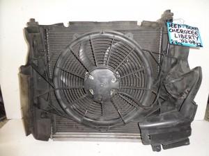 Cherokee liberty 02-08 2.4cc-3.7cc βενζίνη ψυγείο κομπλέ (νερού-aircondition-βεντιλατέρ-intercooler)
