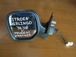 Citroen berlingo-Peugeot partner 96-08 μηχανικός καθρέπτης αριστερός μπορντό