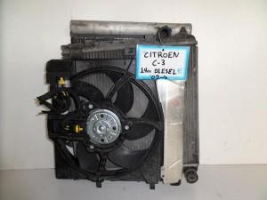 citroen c3 03 08 1 4cc diesel psigio komple nerou air condition ventilater 300x225 Citroen C3 2002 2009 Citroen C2 2003 2009 1.4cc diesel ψυγείο κομπλέ (νερού air condition βεντιλατέρ)
