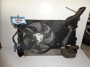 Citroen nemo 08 1.4cc diesel ψυγείο κομπλέ (νερού-aircondition-βεντιλατέρ-intercooler)