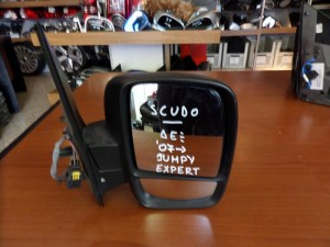 Fiat scudo-Citroen jumpy-Peugeot expert 07 ηλεκτρικός καθρέπτης δεξιός άβαφος (διπλό κρύσταλλο)