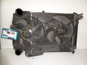 Freelander 98-07 2.0cc diesel ψυγείο κομπλέ (νερού-air condition-βεντιλατέρ-intercooler)