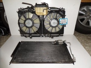Honda accord 03-09 diesel ψυγείο κομπλέ (νερού-aircondition-βεντιλατέρ-παγούρι)