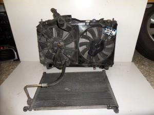 Honda civic 2001-2005 1.7cc diesel ψυγείο κομπλέ (νερού-air condition-βεντιλατέρ-intercooler)