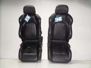Hyundai coupe 01-07 κάθισμα εμπρός με airbag αριστερό-δεξί μαύρο (δερμάτινα)