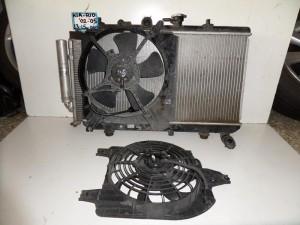 Kia Rio 2002-2005 1.3cc-1.5cc βενζίνη ψυγείο κομπλέ (νερού-aircondition-βεντιλατέρ)