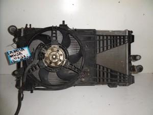Lancia musa 03-13 1.3cc βενζίνη ψυγείο κομπλέ (νερού-βεντιλατέρ)