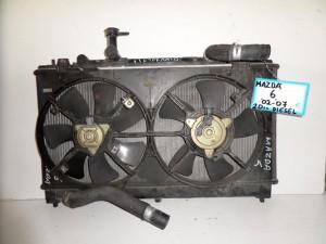 mazda 6 02 08 2 0cc diesel psigio komple nerou diplo ventilater 300x225 Mazda 6 2002 2008 2.0cc diesel ψυγείο κομπλέ (νερού διπλό βεντιλατέρ)