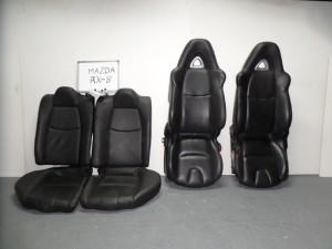 mazda rx8 04 set kathismata empros piso me airbag mavra dermatina 4 tapetsaries 300x225 Mazda RX8 2003 2012 σέτ καθίσματα εμπρός πίσω με airbag μαύρα (δερμάτινα 4 ταπετσαρίες ηλεκτρικά)