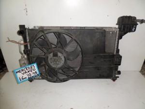 Mercedes vaneo 02-05 1.6cc βενζίνη ψυγείο κομπλέ (νερού-air condition-βεντιλατέρ)