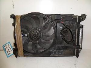 Mini cooper 02-06 1.6cc βενζίνη ψυγείο κομπλέ (νερού-air condition-βεντιλατέρ)