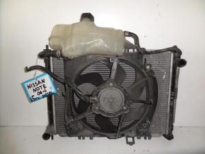 Nissan note 06 1.5cc diesel ψυγείο κομπλέ (νερού-air condition-βεντιλατέρ)