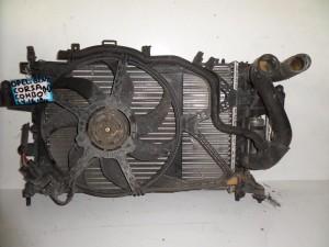 Opel Corsa C 2000-2006 /Opel Combo 2001-2011 1.4-1.6-1.8cc βενζίνη ψυγείο κομπλέ (νερού-air condition-βεντιλατέρ)