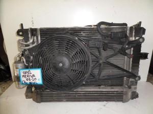 Opel meriva 03-10 1.7cc diesel ψυγείο κομπλέ (νερού-air condition-βεντιλατέρ-intercooler)