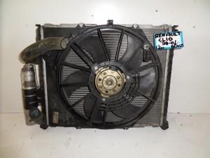 Renault clio 98-01 1.2cc βενζίνα ψυγείο κομπλέ (νερού-air condition-βεντιλατέρ)