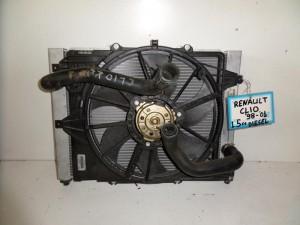 Renault clio 98-01 1.5cc diesel ψυγείο κομπλέ (νερού-air condition-βεντιλατέρ)