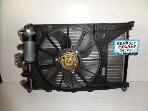 Renault megane 96-02 1.4-1.6cc βενζίνη ψυγείο κομπλέ (νερού-air condition-βεντιλατέρ)