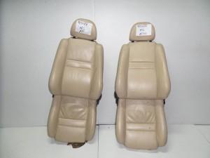 Rover mg 01-06 κάθισμα εμπρός αριστερό-δεξί μπέζ (δερμάτινα και ταπετσαρίες)