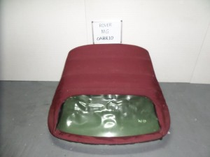 Rover mg cabrio 01-06 κουκούλα ουρανού με πλαστικό μπορντό