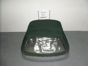 Rover mg cabrio 01-06 κουκούλα ουρανού με πλαστικό πράσινη