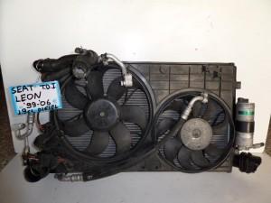 Seat leon 99-05 1.9cc diesel ψυγείο κομπλέ (νερού-air condition-intercooler-βεντιλατέρ)