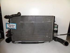 Seat Toledo 1998-2005 1.9cc diesel ψυγείο κομπλέ (νερού-air condition-intercooler)
