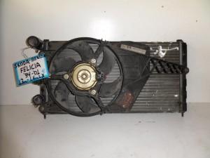 Skoda Felicia 1994-2001 1.3cc-1.6cc ψυγείο κομπλέ (νερού-air condition-βεντιλατέρ)