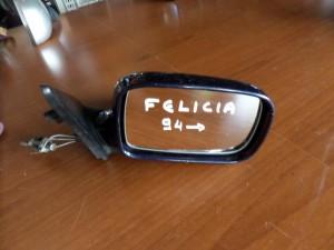 Skoda Felicia 1994-2001 μηχανικός καθρέπτης δεξιός σκούρο μπλέ