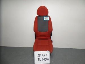 Smart forfour κάθισμα εμπρός δεξί κόκκινα με γκρί σκούρο