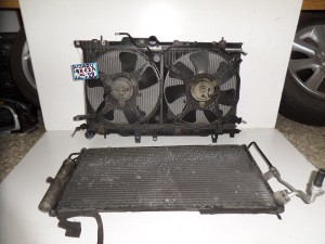 Subaru imbreza 01-08 2.0cc turbo βενζίνη ψυγείο κομπλέ (νερού-aircondition-βεντιλατέρ)