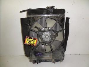Subaru justy 05 1.0cc-1.3cc βενζίνη ψυγείο κομπλέ (νερού-βεντιλατέρ-air condition)
