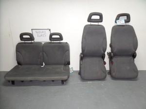 Suzuki ignis 03 σέτ καθίσματα εμπρός-πίσω γκρί (με βούλες χρωματιστές)