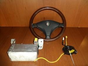 Alfa romeo 156 97-03 airbag, οδηγού-συνοδηγού-ροζέτα