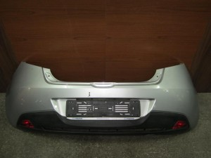 Mazda 2 08 πίσω προφυλακτήρας ασημί