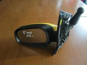 VW fox 2005-2011 μηχανικός καθρέφτης αριστερός κίτρινος