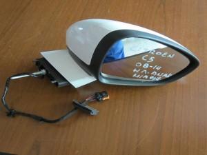Citroen C5 2008-2017 ηλεκτρικός ανακλινόμενος καθρέφτης δεξιός λευκός (1 φίς)